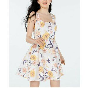 City Studio 1 Ivy Yellow Floral Dress NWT Q79